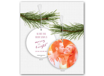 Custom Photo Card (Ornament, Flat)