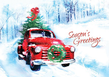 Vintage Vroom Holiday Greeting Cards